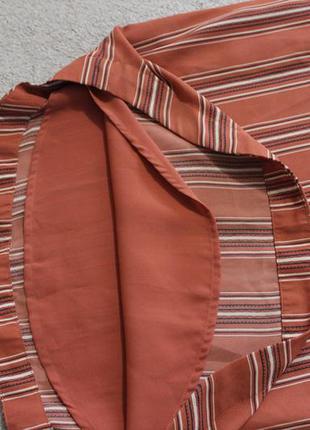 New look.крутой полосатый сарафан.ровный крой.4