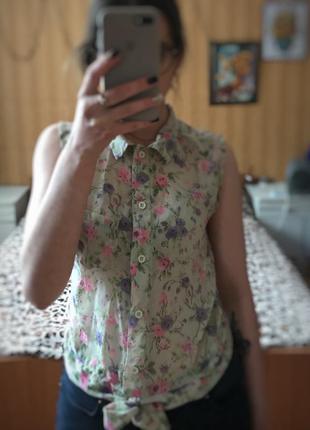 Летняя рубашка на завязках modo