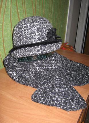 Шляпка с шарфиком