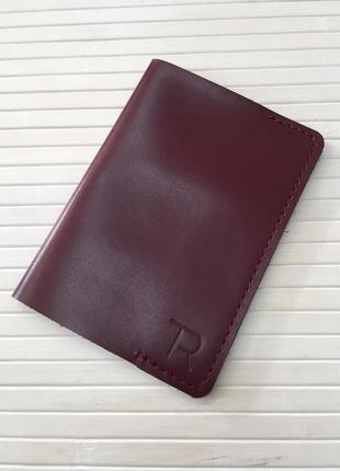 Обкладинка на паспорт з натуральної шкіри, hand made;обложка