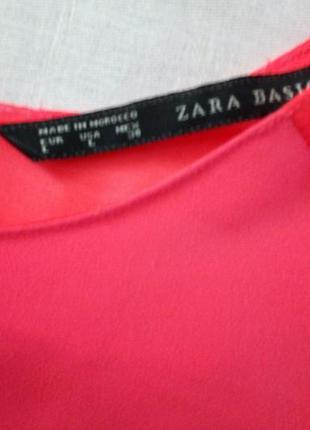 Красивая блуза ззаду на запах zara2