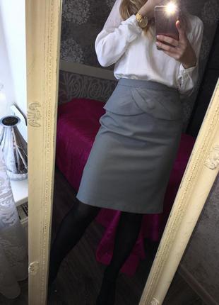 Модная юбка миди в гусиную лапку