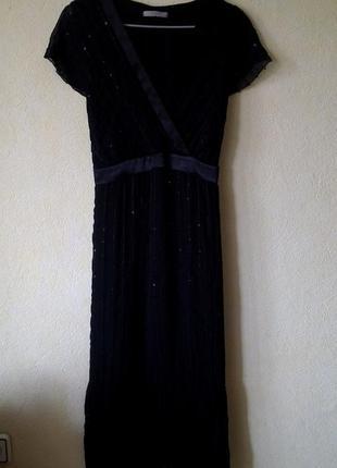 Черное миди платье m&s