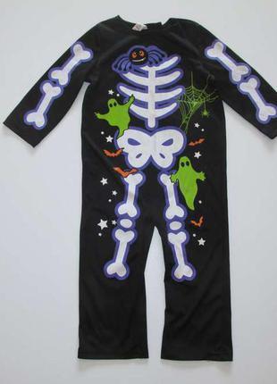 Костюм скелета halloween, на 2-4 года