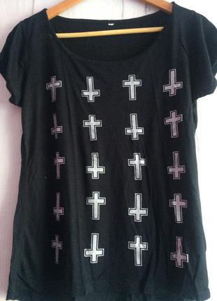 Оригинальная футболка с блестящими деталями от calliope (италия)