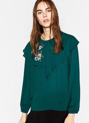 Двослойна блузка з узором zara