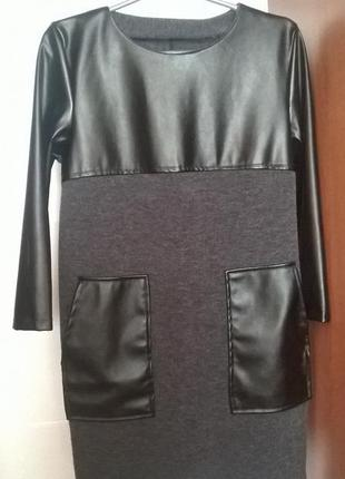 Плаття/платье с эко-кожей