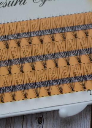 Ресницы пучковые безузелковые 8 мм