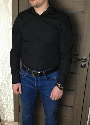 Чёрная рубашка f&f