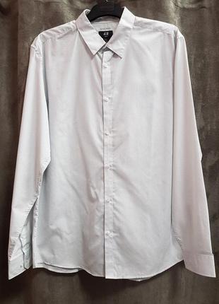 Рубашка в мелкий горошек,белая рубашка в крапочку2 фото