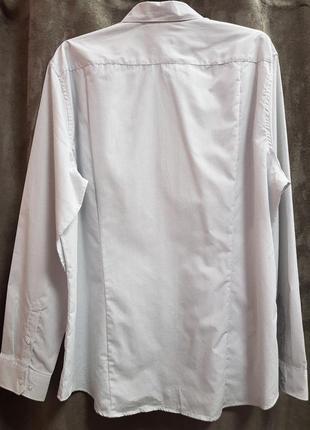 Рубашка в мелкий горошек,белая рубашка в крапочку4 фото