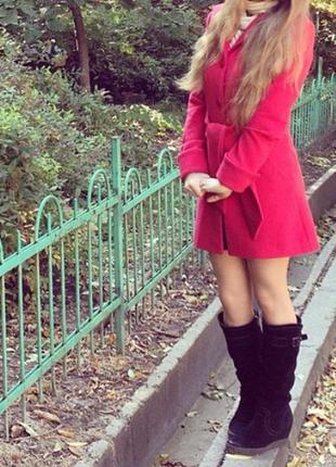 Пальто season идеальное состояние красное нарядное
