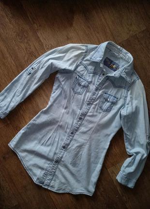 Джинсовая рубашка new look
