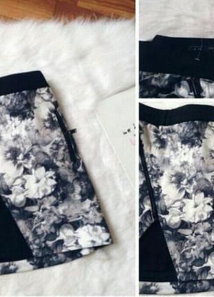 Крутая неопреновая юбка zara
