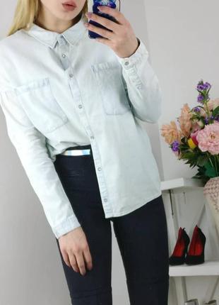 Крутая трендовая рубашка джинс
