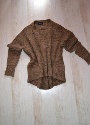Теплый мягкий свитер реглан джемпер оверсайз zara