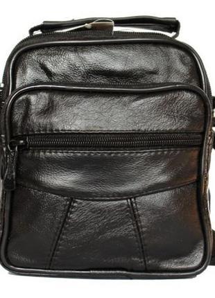 Кожанная мужская сумка - барсетка под документы, ключи, блокнот