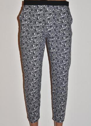 Фактурные укороченные брюки/штаны topshop