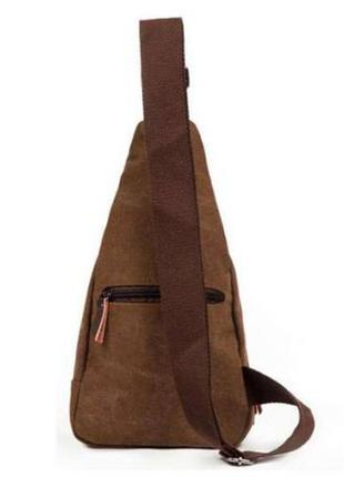 Компактный мужской рюкзак - сумочка через плечо тканевый.