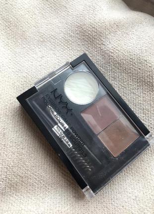 Nyx набор тени для бровей eyebrow cake powder