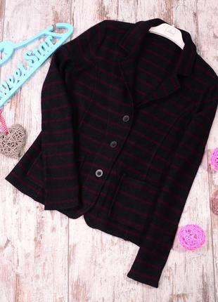 Вязаный пиджак-кардиган