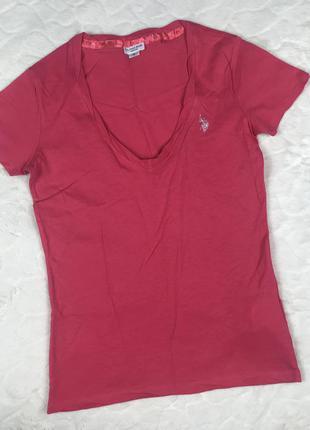 Новая футболка u. s. polo assn розового цвета