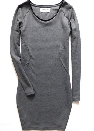 Меланжевое платье футляр длины миди от vero moda