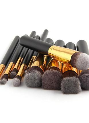 Профессиональный набор кистей для макияжа 10 шт + чехол