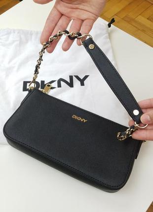 Стильная кожаная сумка от dkny, оригинал из сша2