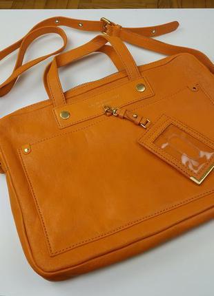 Стильная кожаная сумка для ноутбука от marc by marc jacobs, оригинал
