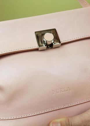 Винтажная сумка furla из натуральной кожи, оригинал!