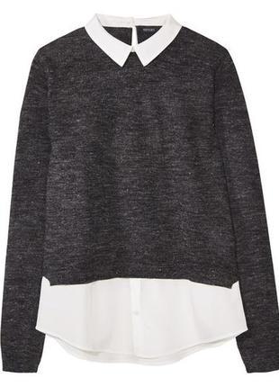 Красивый комбинированный свитшот, свитер, esmara (германия), р. m, l, xl