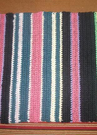 Дорожка,коврик вязаный вручную крючком из ниток