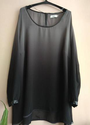 Шикарный блузон из ткани с эффектом омбре # zizzi # большой размер!