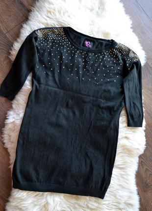 Симпатичная туника, короткое платье с заклепками