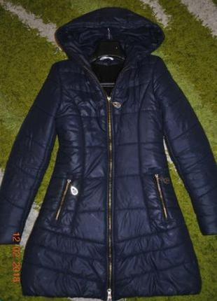 Зимнее пальто холлофайбер+флис