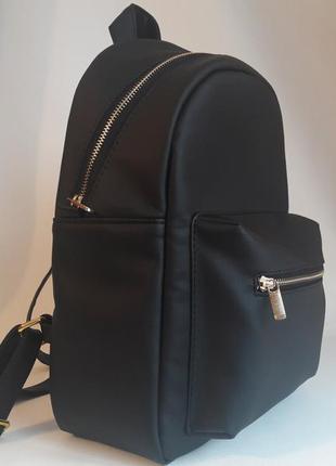 Качественный женский рюкзак черный кожа