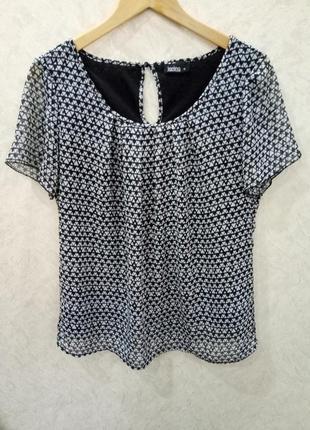 Блузка шифоновая с коротким рукавом  janina