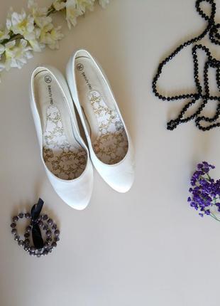 Туфли лодочки белые (свадебные)