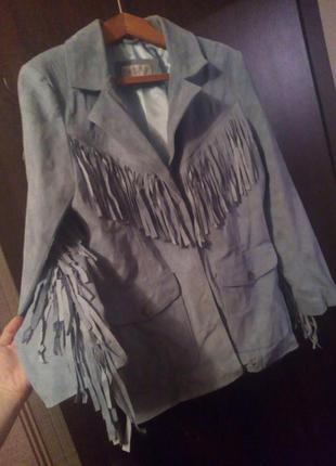 Куртка пиджак оверсайз косуха с бахромой