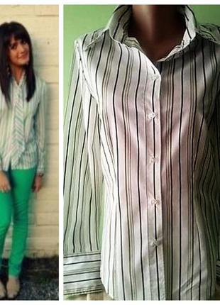 Классическая женская рубашка в полоску 8, 10 размер