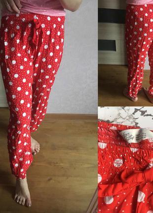 Красные в горошек пижамные штаны love to lounge размер: s