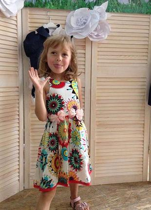Легкое летнее платье из натурального хлопка