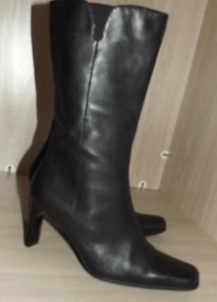 Сапоги, ботинки каблук кожа 40 размер