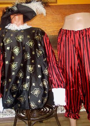 Маскарадный костюм пирата или мушкетера + шляпа в подарок