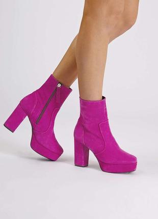 """40-40.5 """"topshop"""",испания, натуральная кожа! изысканные,эффектные ботильоны ботинки сапоги"""