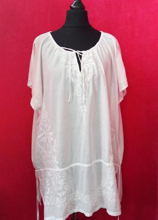 Натуральная , лёгкая блуза большой размер