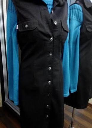 Платье сафари или хлопковый жилет из тонкого денима