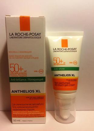 Солнцезащитный матирующий крем-гель la roche-posay anthelios xl gel-crema tacto spf50+