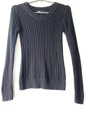 Черный свитер oodji